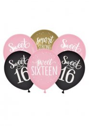 Pink Sweet 16 Party Balloons Pack 15