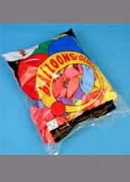 Assorted Colour Party Balloons Bag of 100 12 inch
