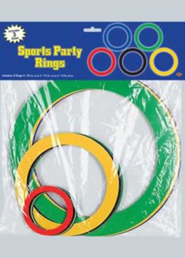 Assorted Aports Event Coloured Rings Cutouts Pk15