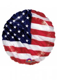 Inflated USA American Flag Helium Balloon