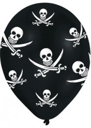 Pirate Party Balloons Pack of 6