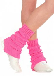 Flourescent Pink Stirrup Dance Leg Warmers 60cm