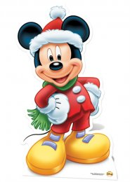 Disney Mickey Mouse Christmas Life Size Cut Out