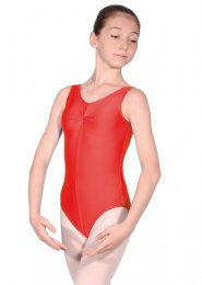 Red Sheree Sleeveless Dance Leotard