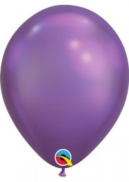 Qualatex Chrome Purple Latex Balloons Pk5