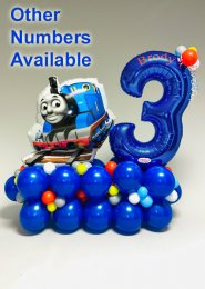 Personalised Large Thomas The Tank Engine Number Balloon Stack