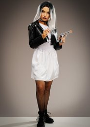 Womens Petite Size Bride of Chucky Style Costume