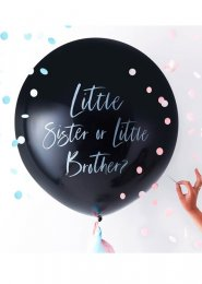 Little Brother or Sister Gender Reveal Balloon with Confetti