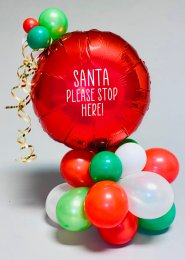 Inflated Deluxe Santa Please Stop Here Christmas Centrepiece