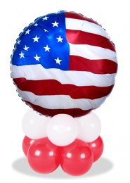Stars and Stripes USA Flag Inflated Balloon Centrepiece