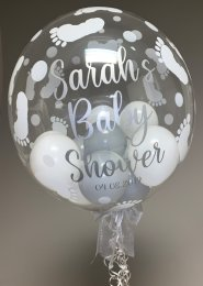 Personalised Baby Shower Multi Balloon Filled Bubble Balloon