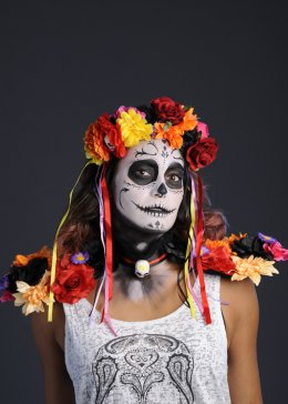 Day of The Dead Flower Collar Epaulettes