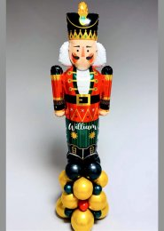Personalised Christmas Nutcracker Party Balloon Stack Decoration