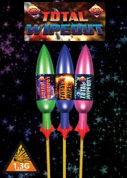 Total Wipeout Rockets Fireworks Pack 3