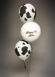 Inflated Personalised 3 Balloon Cluster