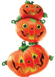Inflated Halloween Large Stacking Pumpkins Helium Multi-Balloon