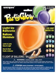 Party Glow LED Light Up Balloons Pack 15