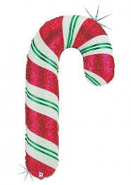 Inflated Large Striped Candy Cane Helium Balloon