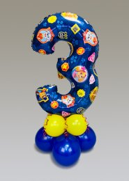 Paw Patrol 3rd Birthday Mid-Size Number Balloon Centrepiece