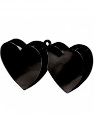 Black Double Heart Balloon Weight