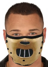 Halloween Brown Printed Fabric Hannibal Mask