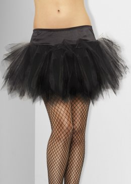Adult Ladies Frilly Black Tutu