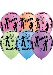 70s Party Disco Dancer Latex Balloons Pack 25