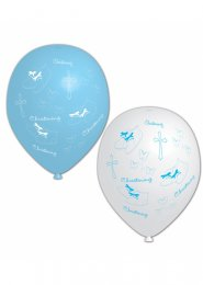 Blue Christening Booties Party Balloons Pk6