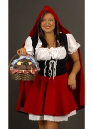 Red Riding Hood Plus Size Costume UK16-20