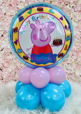 Peppa Pig Birthday Inflated Balloon Table Centrepiece