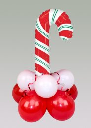 Inflated Red Candy Cane Mini Balloon Table Centrepiece