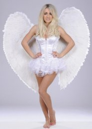 Extra Large White Heavenly Angel Feather Wings