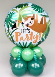 Lets Party Sloth Inflated Birthday Balloon Centrepiece