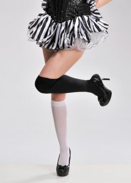 Womens Black and White Striped Tutu