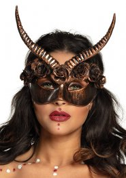Womens Gothic Bronze Mama Legba Eye Mask