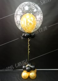 Gold 18th Birthday Deco Bubble Balloon