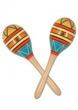Deluxe Bright Mexican Wooden Maracas