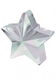 Metallic Silver Star Helium Balloon Weight