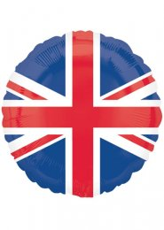Inflated Union Jack Flag Helium Balloon