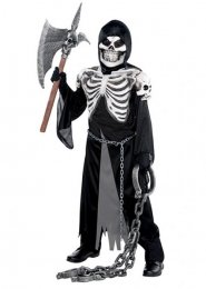 Kids Halloween Skeleton Crypt Keeper Costume
