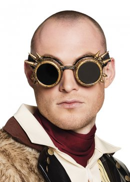 Adult Copper Steam Punk Spiked Goggles