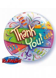 Inflated Thank You Bubble Helium Balloon