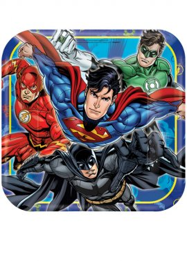 Justice League Superhero Party Plates Pk8
