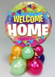 Inflated Welcome Home Balloon Centrepiece