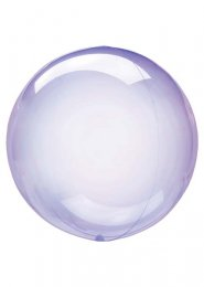 Inflated Petite Purple Crystal Clearz Sphere Helium Balloon