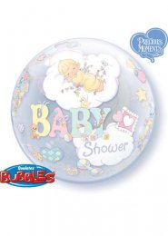 Inflated Baby Shower Bubble Helium Balloon