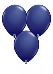 Large Navy Blue 16 Inch Latex Party Balloons Pack 3
