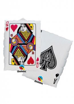 Casino Night Large Playing Card Helium Balloon
