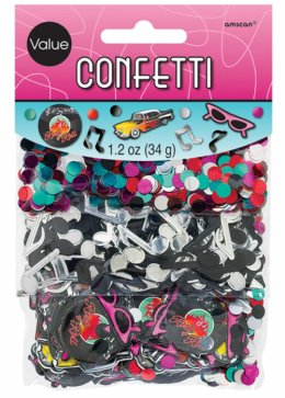 1950s Rock n Roll Party Assorted Confetti 3 Pack