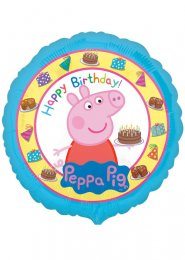 Inflated Peppa Pig Happy Birthday Party Helium Balloon
